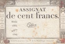 France 100 Francs 18 Nivose An III - 7.1.1795 - Sign. Guyot