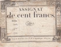 France 100 Francs 18 Nivose An III - 7.1.1795 - Sign. Guyot Série 3440
