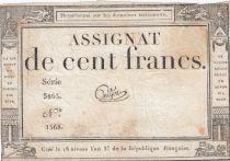 France 100 Francs 18 Nivose An III - 7.1.1795 - Sign. Guyot Série 3863