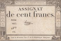 France 100 Francs 18 Nivose An III - 7.1.1795 - Sign. Henry