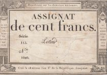 France 100 Francs 18 Nivose An III - 7.1.1795 - Sign. Lenoir