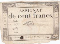 France 100 Francs 18 Nivose An III - 7.1.1795 - Sign. Mané