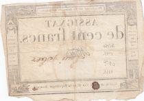 France 100 Francs 18 Nivose An III - 7.1.1795 - Sign. Mané