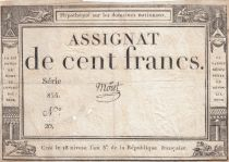 France 100 Francs 18 Nivose An III - 7.1.1795 - Sign. Moret