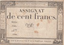 France 100 Francs 18 Nivose An III - 7.1.1795 - Sign. Ogé