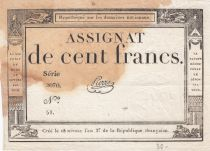 France 100 Francs 18 Nivose An III - 7.1.1795 - Sign. Pierre