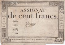 France 100 Francs 18 Nivose An III - 7.1.1795 - Sign. Varnier Serial 269