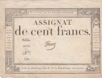 France 100 Francs 18 Nivose An III - 7.1.1795 - Sign. Vienoz