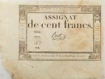 France 100 Francs 18 Nivose An III (07-01-1795) - Sign. Bert - Serial 5068 - XF