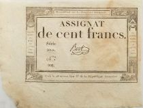 France 100 Francs 18 Nivose An III (07-01-1795) - Sign. Bert - Série 5068 - SUP
