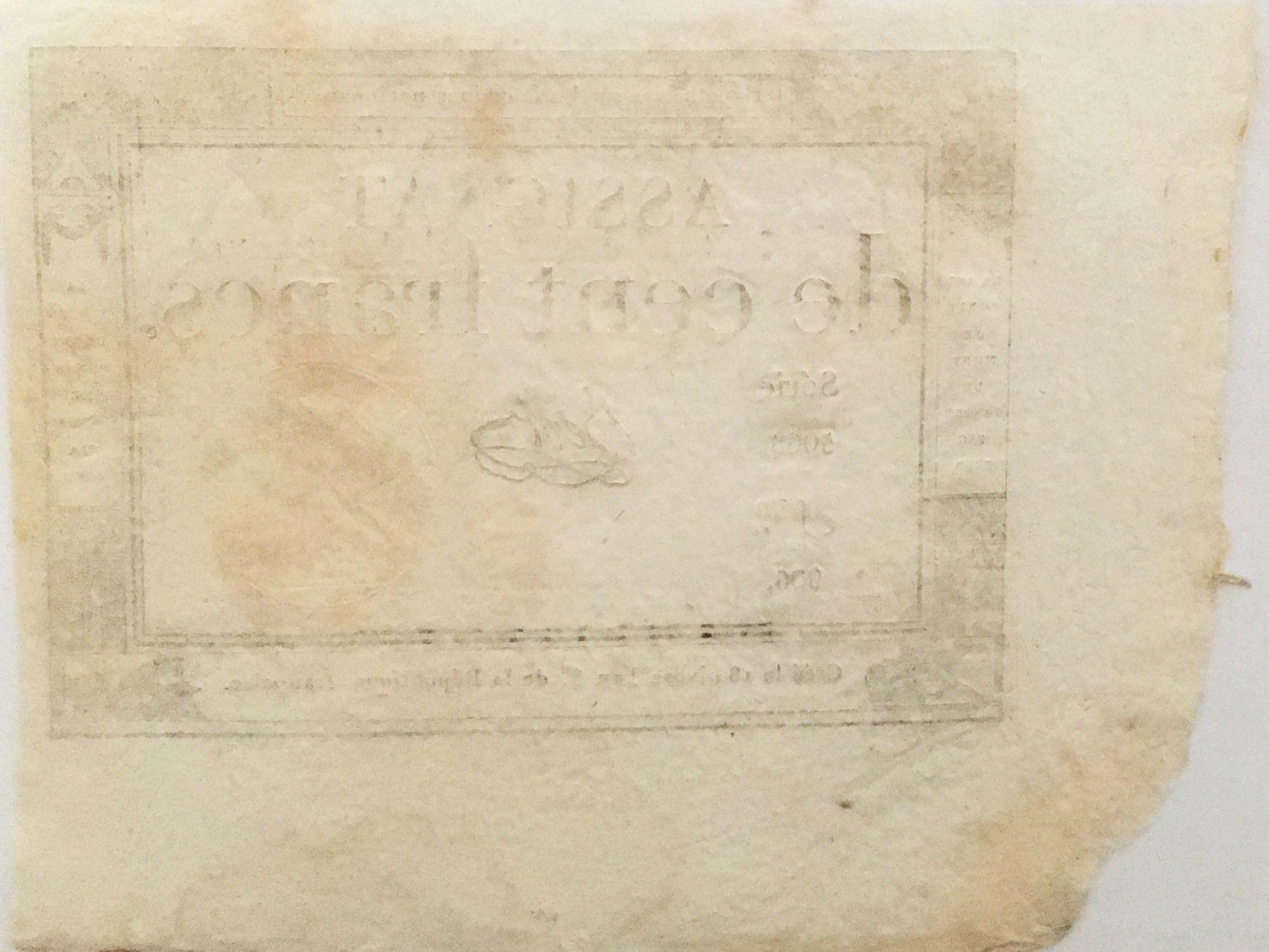 France 100 Francs 18 Nivose An III (07-01-1795) - Sign. Bert - Série 5068 - SUP
