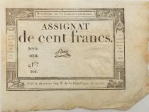 France 100 Francs 18 Nivose An III (07-01-1795) - Sign. Saxy - Serial 5068 - XF
