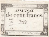 France 100 Francs 18 Nivose Year III - 7.1.1795 - Sign. Amiot