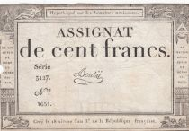 France 100 Francs 18 Nivose Year III - 7.1.1795 - Sign. Bouly