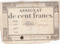 France 100 Francs 18 Nivose Year III - 7.1.1795 - Sign. Mané