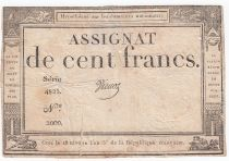 France 100 Francs 18 Nivose Year III - 7.1.1795 - Various Sign. - VF