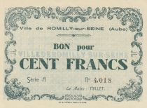 France 100 Francs 1940, Ville de Romilly-sur-Seine