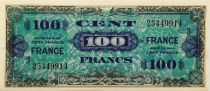 France 100 Francs Allied Military Currency - 1944 - Serial 3 - AU