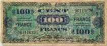 France 100 Francs Allied Military Currency - 1944 - Serial 5 - F