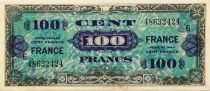 France 100 Francs Allied Military Currency - 1944 - Serial 6 - VF+