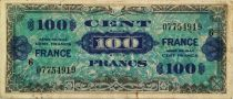 France 100 Francs Allied Military Currency - 1944 - Serial 6 - VF