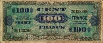 France 100 Francs Allied Military Currency - 1944 - Serial 7 - F