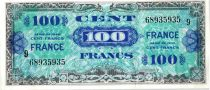 France 100 Francs Allied Military Currency - 1944 Serial 9 68935935