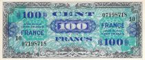 France 100 Francs Allied Military Currency - 1945 Serial 10 - XF