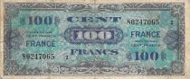 France 100 Francs Allied Military Currency - 1945 Serial 2 - F