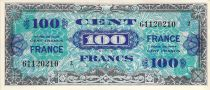 France 100 Francs Allied Military Currency - 1945 Serial 2 - XF