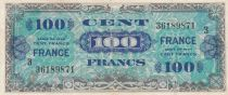 France 100 Francs Allied Military Currency - 1945 Serial 3 - VF