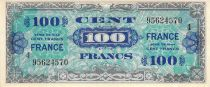 France 100 Francs Allied Military Currency - 1945 Serial 4 - VF+