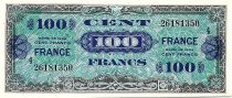 France 100 Francs Allied Military Currency - 1945 Serial 4 aUNC