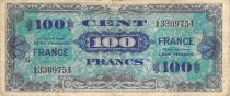 France 100 Francs Allied Military Currency - 1945 Serial 6 - F+