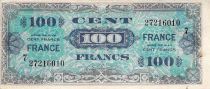 France 100 Francs Allied Military Currency - 1945 Serial 7 - F+