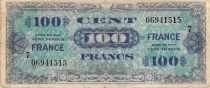 France 100 Francs Allied Military Currency - 1945 Serial 7 - F