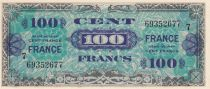 France 100 Francs Allied Military Currency - 1945 Serial 7 - UNC