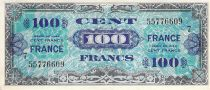 France 100 Francs Allied Military Currency - 1945 Serial 7 - VF+