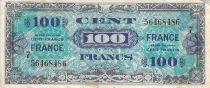 France 100 Francs Allied Military Currency - 1945 Serial 7 - VF