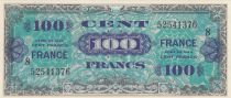 France 100 Francs Allied Military Currency - 1945 Serial 8 - AU