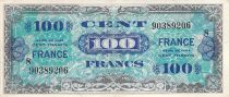 France 100 Francs Allied Military Currency - 1945 Serial 8 - VF