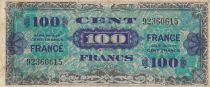 France 100 Francs Allied Military Currency - 1945 without Serial  - F to VF