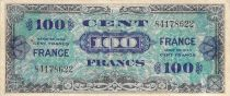 France 100 Francs Allied Military Currency - 1945 Without Serial - F+