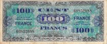 France 100 Francs Allied Military Currency - 1945 Without Serial - F