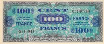 France 100 Francs Allied Military Currency - 1945 Without Serial - VF+