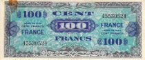 France 100 Francs Allied Military Currency - 1945 Without Serial - VF