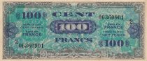 France 100 Francs Allied Military Currency - Serial 2 06360901