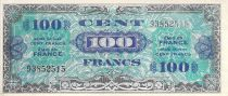 France 100 Francs Allied Military Currency (Flag) - 1944 - No Serial - VF