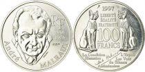 France 100 Francs André Malraux - 1997 Argent - Essai - SPL