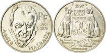 France 100 Francs André Malraux - 1997 Silver